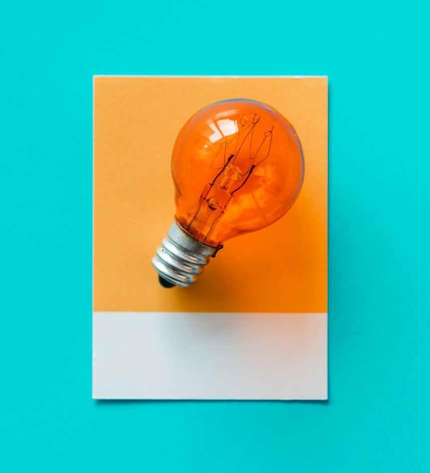edison bulb on paper