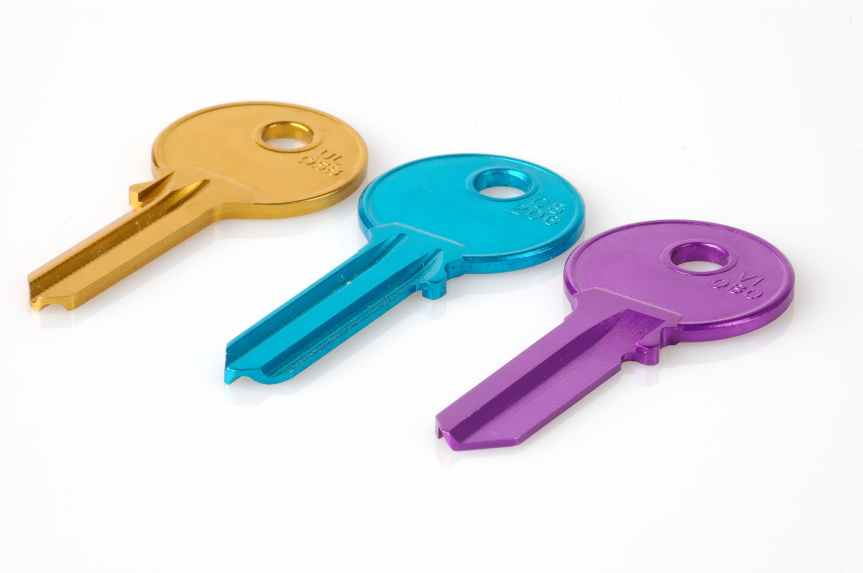 colorful raw security key