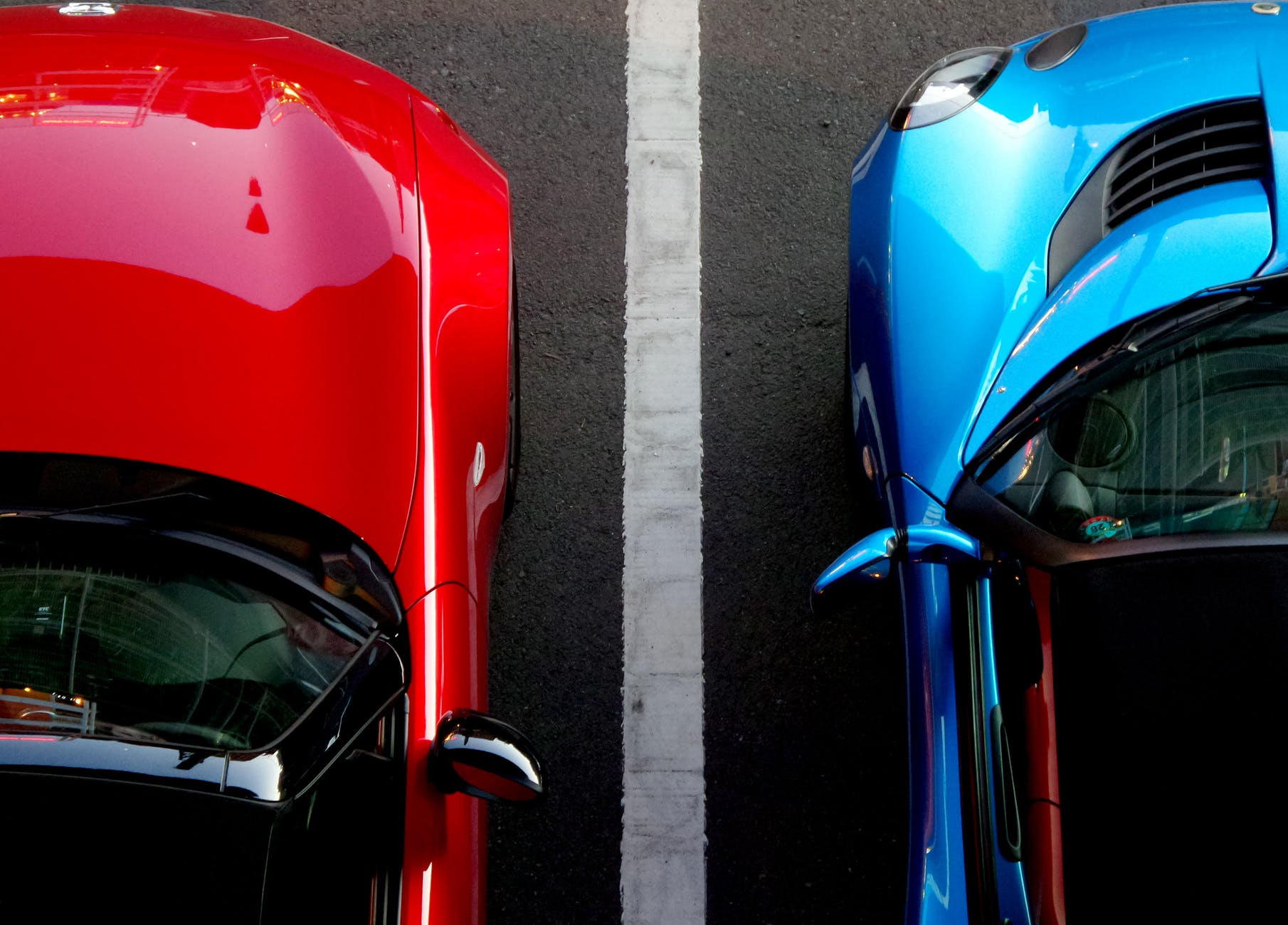 close up view of cars