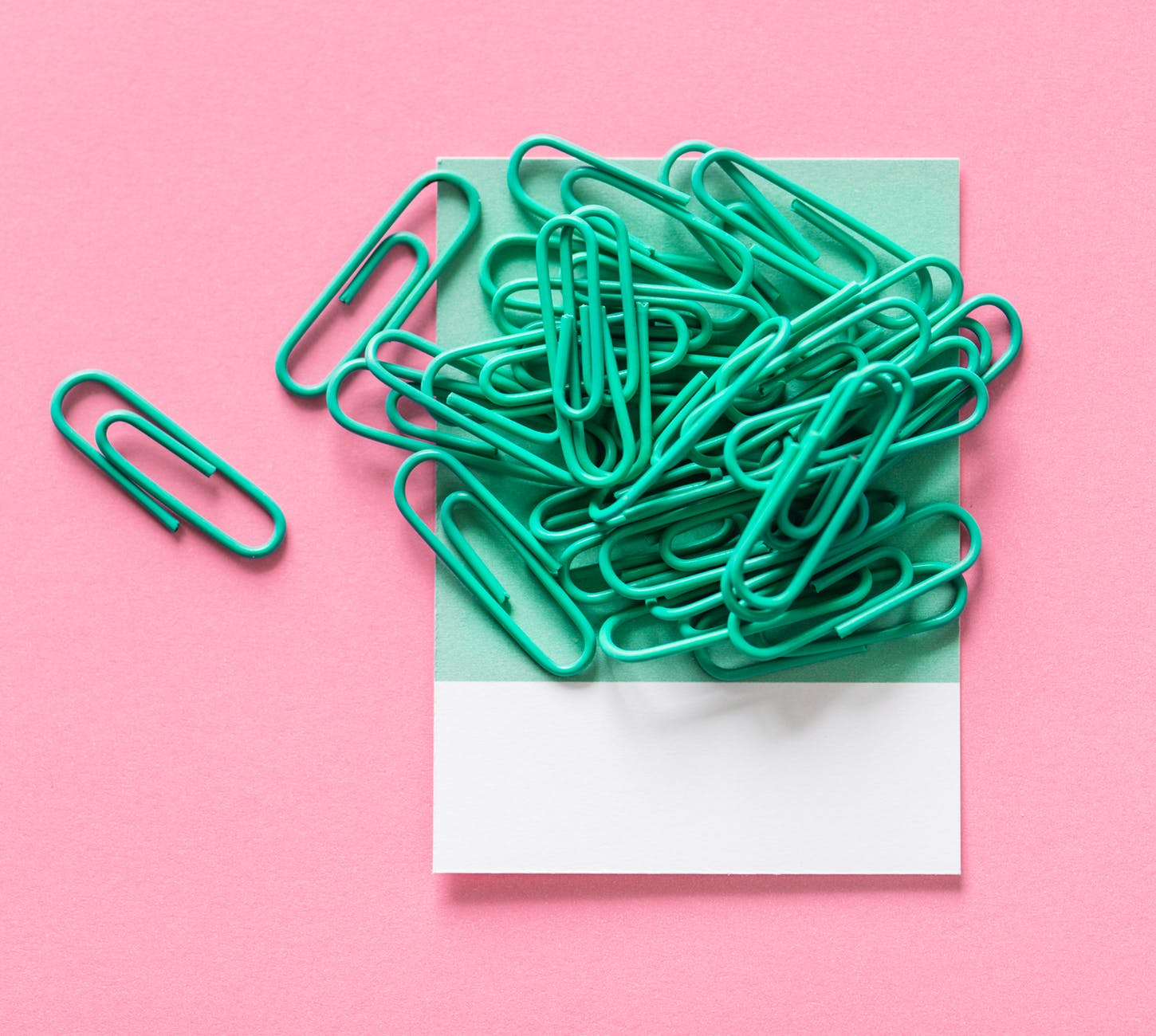 green paper clip lot