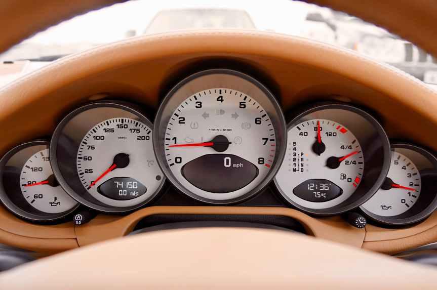 white motorcycle cluster gauge