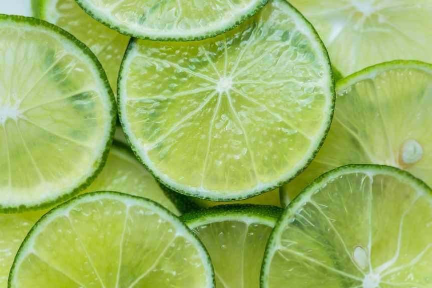 sliced lime fruits