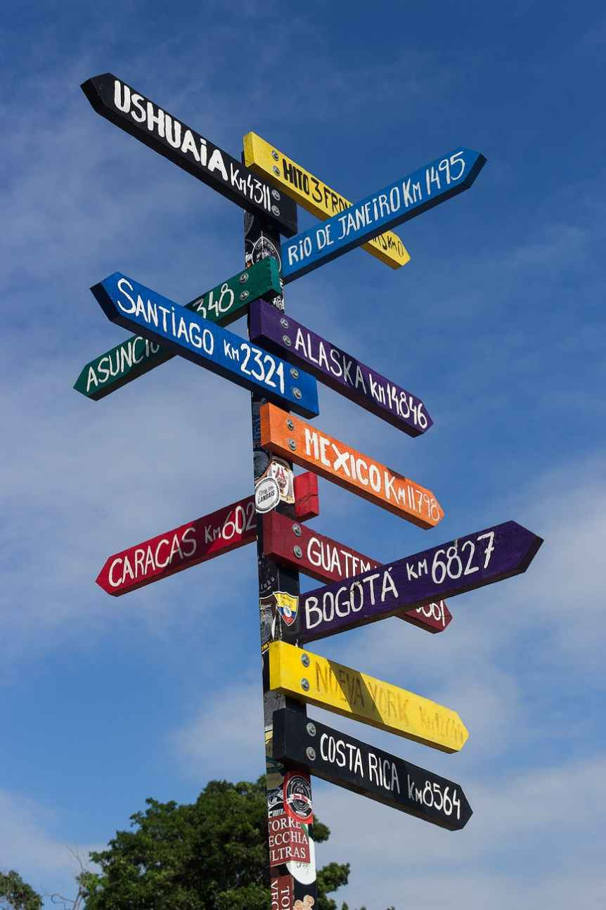assorted color signages